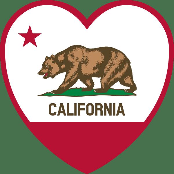 Download California Flag Heart Clip Art at Clker.com - vector clip ...