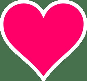 Download Pink Heart Clip Art at Clker.com - vector clip art online ...