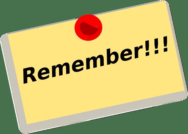 remember note wqq clip art