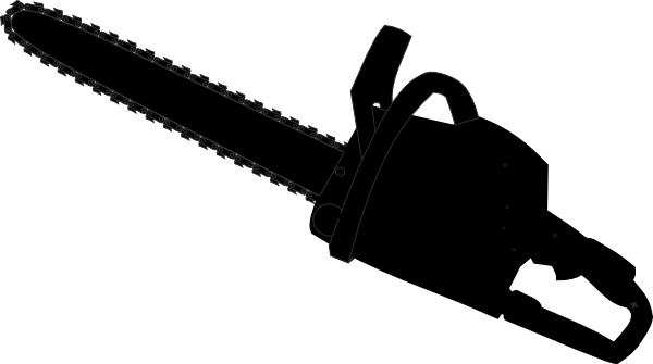 chainsaw black outline clip art