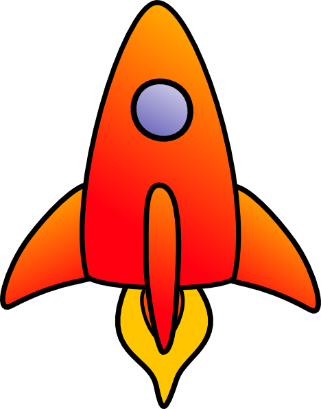 vertical rocket clip art