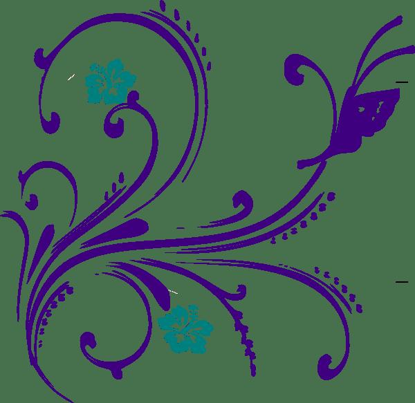 flower butterfly clip art