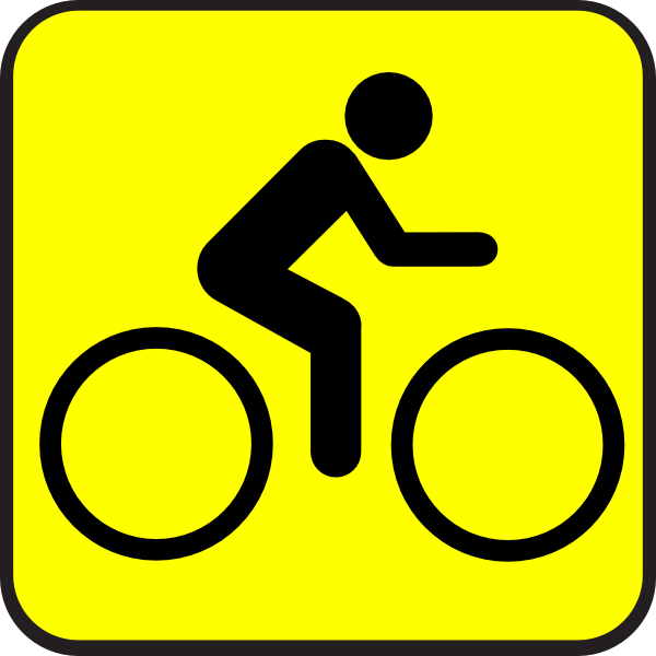 bike sign clip art
