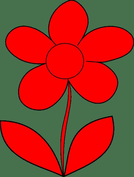 utt red flower clip art