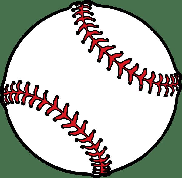 baseball thick boarder clip art