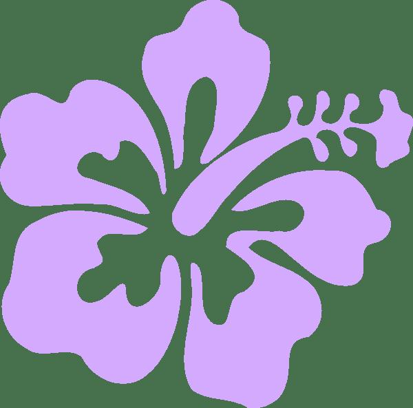 purple hibiscus clip art