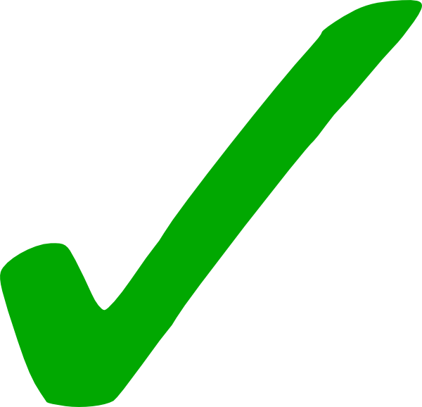 light green check mark clip art