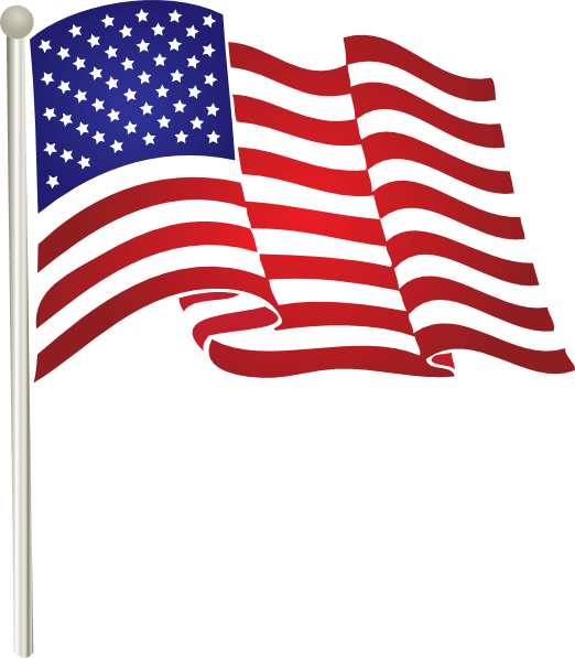 united states waving flag clip
