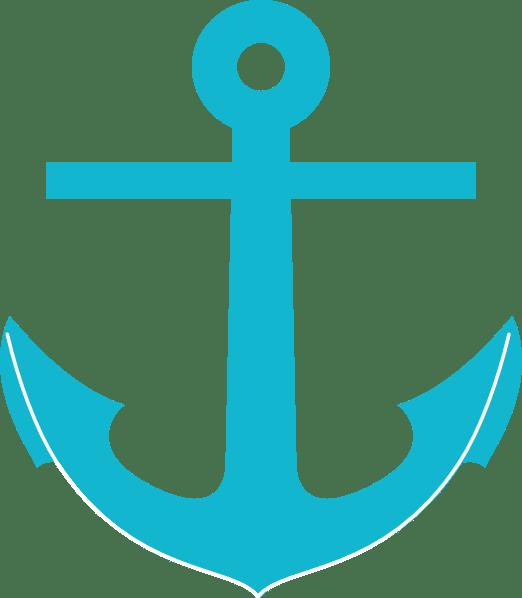teal anchor clip art