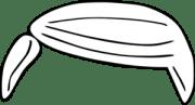 plain white hair clip art