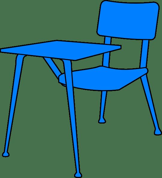 blue desk clip art