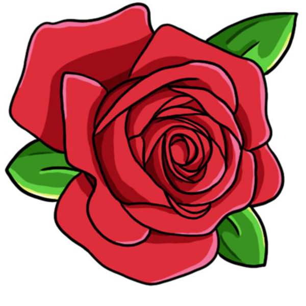 red rose clip art l free
