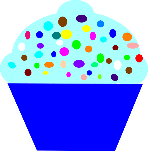 cupcake blue clip art