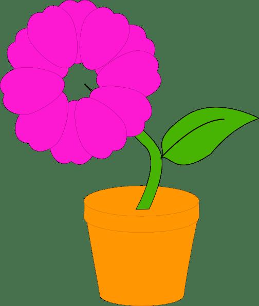 daisy in flower pot illustration