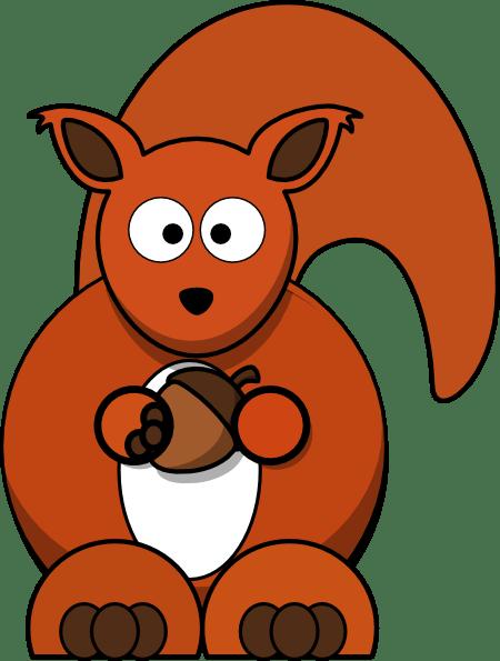 red squirrel clip art