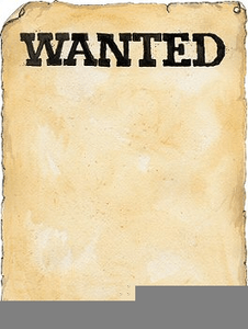blank wanted poster clipart free
