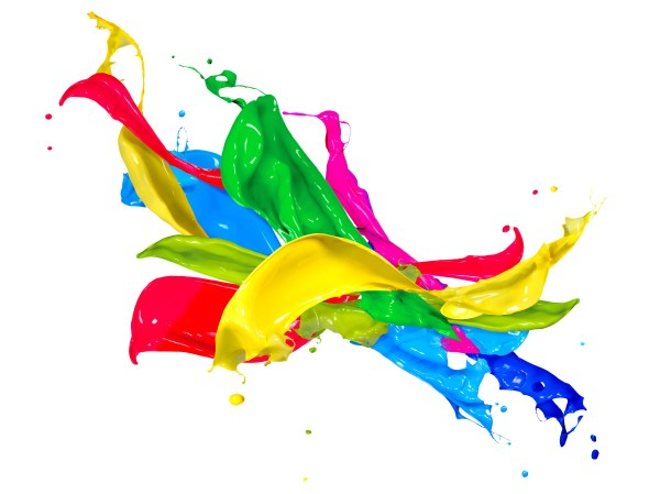 Paint Splash Colors Design Free - Vector Clip Art Online Royalty