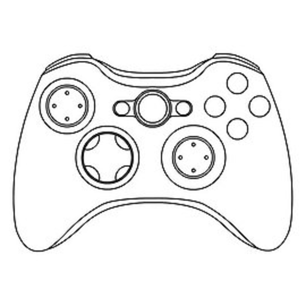 Xbox One Controller Sketch Coloring Page