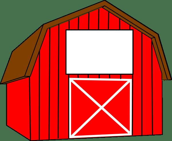 red white barn clip art