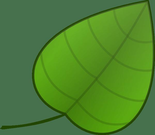 simple leaf clip art