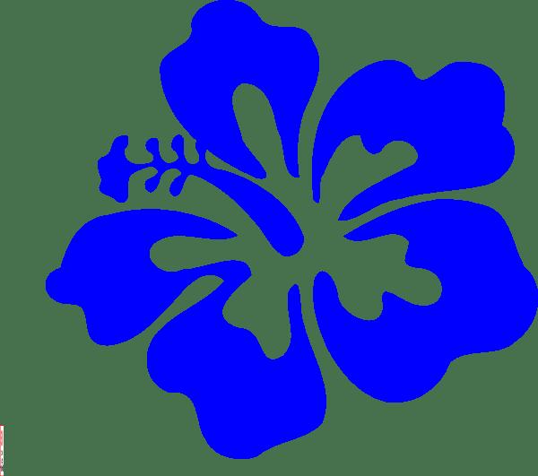 blue tropical flower clip art
