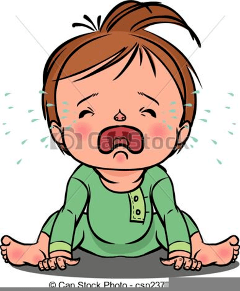 Crying Baby Clipart