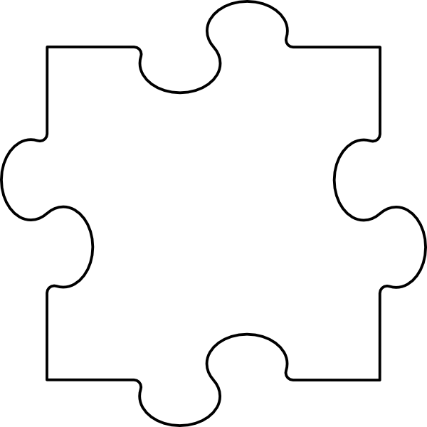 large puzzle pieces template