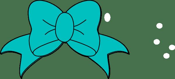 teal minnie mouse bow clip art