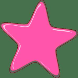 pink star editedr clip art