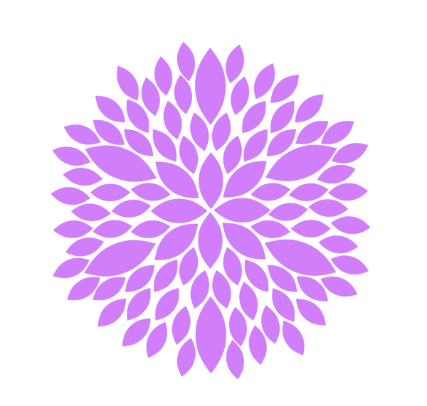 purple flower clip art free