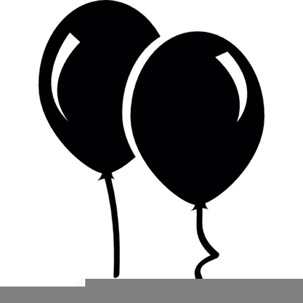 balloon clipart black and white