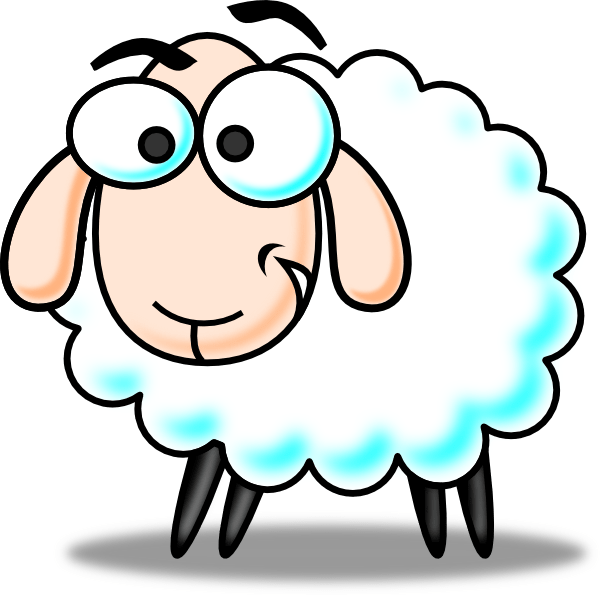 funny sheep clip art