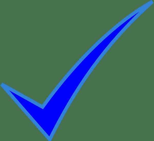 blue check mark clip art