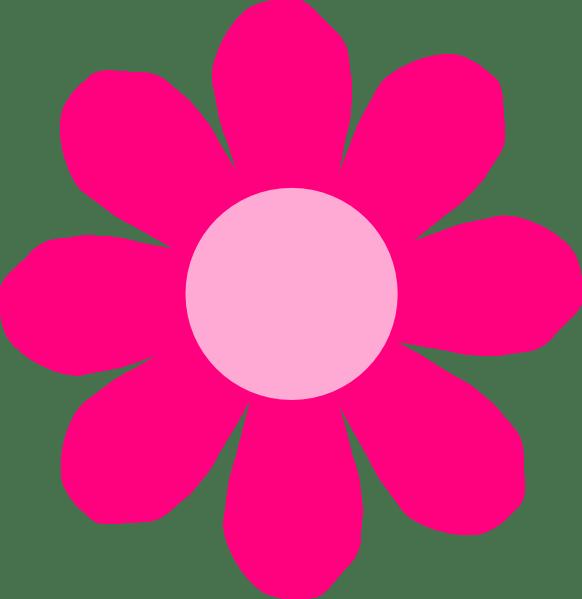 pink daisy flower clip art