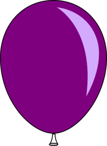 purple baloon clip art