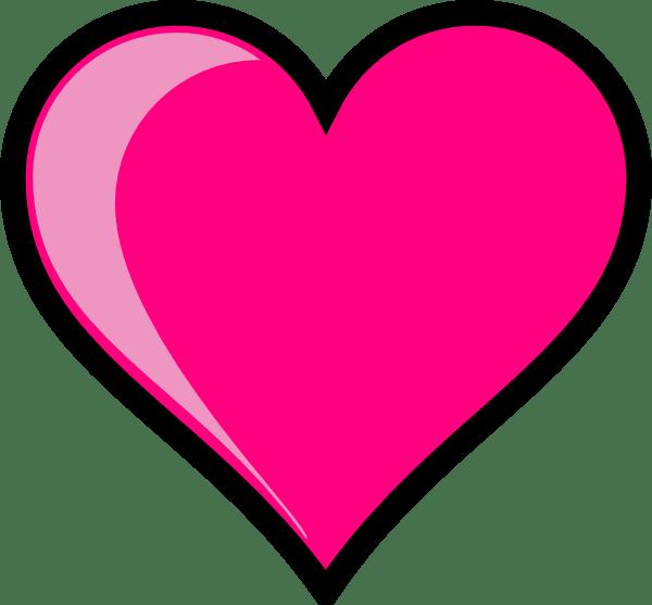 pink heart clip art