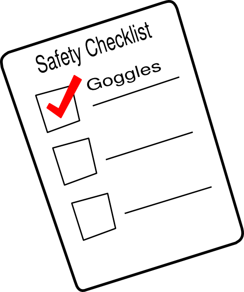 Safety Checklist Clipart All About Clipart