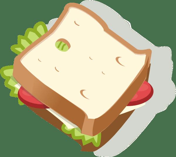 vegetarian sandwich clip art