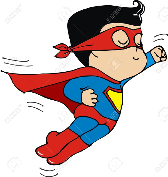 clipart superman flying free