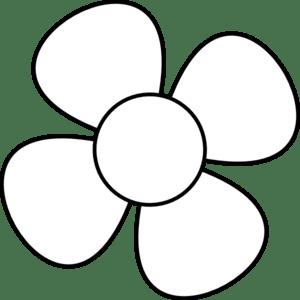 flower black&white clip art