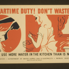 Ways To Conserve Water In The Kitchen Backsplash Options Your Wartime Duty Don T Waste Do Not Use More