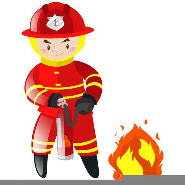 free clipart fireman cartoon