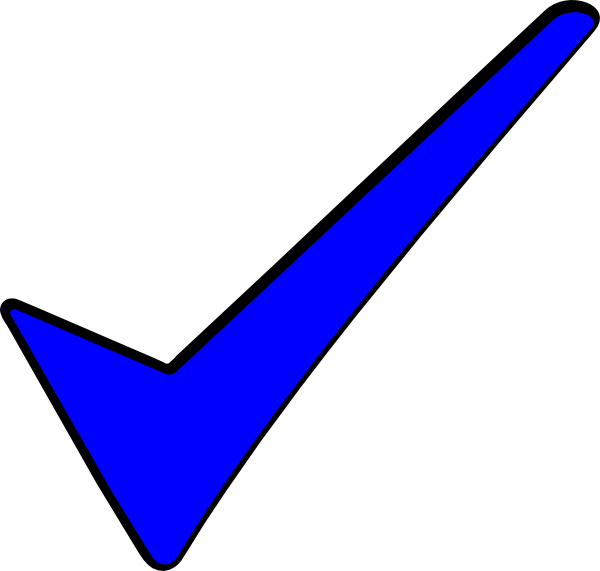 blue tick clip art