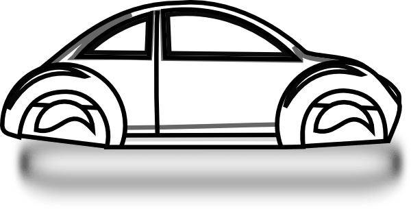 beetle car outline clip art