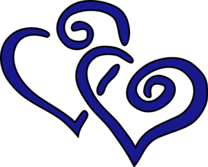 Intertwined Hearts Clip Art