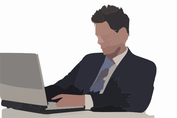 Man On Computer Clip Art at Clkercom  vector clip art