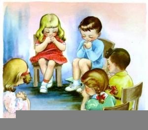 children praying clipart free