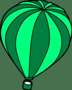 hot air balloon surf green teal
