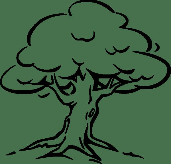 tree clip art - vector