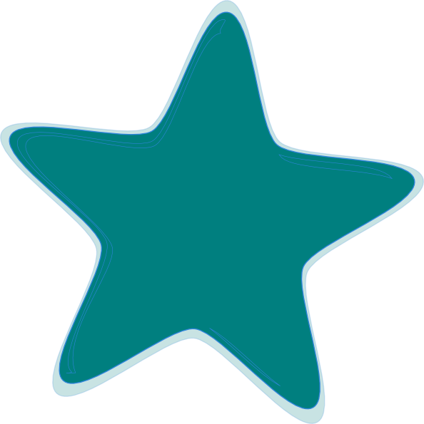 teal star clip art